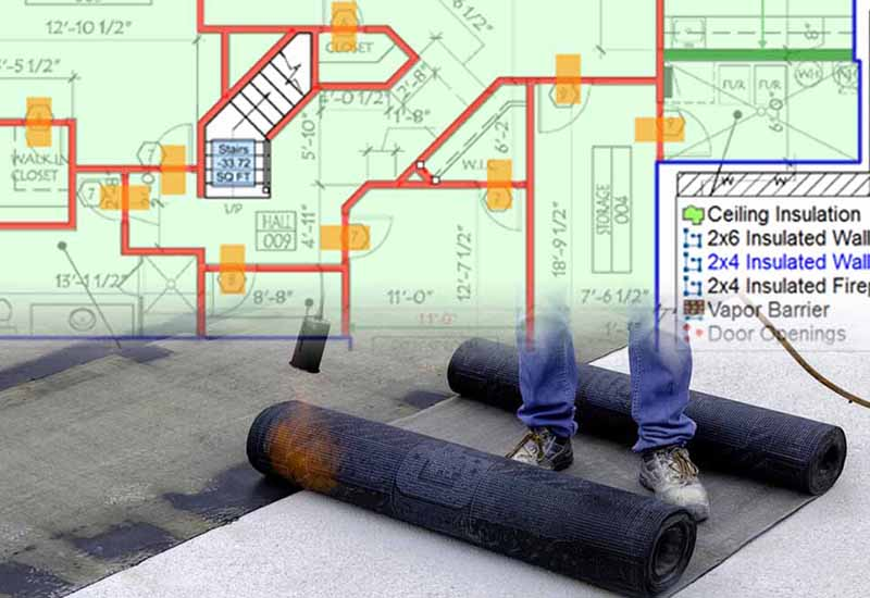 A blueprint for waterproofing estimating and insulation estimating services